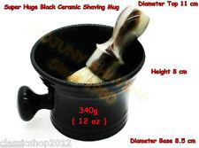 LS - Apothecary Classic - Super Huge Black Ceramic Shaving Bowl/Mug - Brand New!