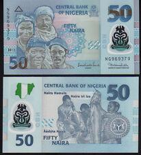 Nigeria 50 NGN PICK 40 2011 Polymer UNC Nuovo di zecca