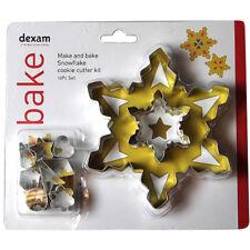Dexam Make & Bake Snowflake Cookie Cutter Kit - 10 piece