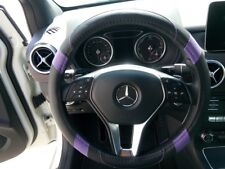 2018 Black & Purple Slip-On Style PU Steering Wheel Cover Perfect Fit Non-Slip