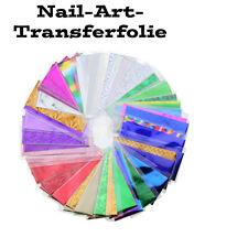 Transferfolie Nail Art, Zauberfolie 10 verschiedene Folien je  35 x 4 cm