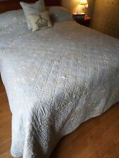 Beautiful BEDSPREAD Shabby FRENCH chic BIRDS OF PARADISE quilt + CUSHION COVER