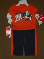 NWT PUMA Infant Baby Boys 3 Piece SET 2 BODY SUIT Tops Athletic PANTS 3-6 Months
