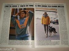 LORETTA GOGGI GIANNI BREZZA clipping articolo fotografia foto photo 1989 AS23