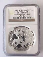 2014 2nd Panda Collection Expo Silver Medal w/Box+COA NGC MS70 Cert.#3877913-023