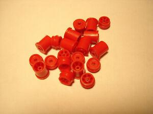 10 PAIR H.O. SCALE REPRO PLASTIC RIM SETS AURORA G+/TURBO/SRT/SG+/AFX RED