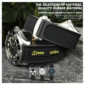 21 22 20 Silicone Rubber Strap Watch Band for Omega Speedmaster Seamaster 300