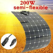 200WATT 18V 200W SOLAR PANEL KIT SOLARPANEL SEMI-FLEXIBLE MONOCRYSTALLINE+ CABLE