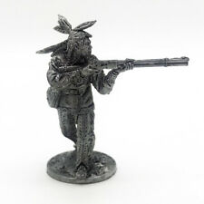 Tin Soldiers 54mm 1/32. Indian with a rifle. Wild West. Southern America. WW-13