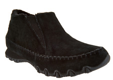 Skechers Relaxed Fit Suede Ankle Boots - Spirit Animal Black Women's 6 New
