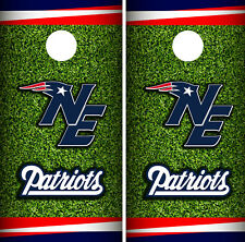 New England Patriots Field Cornhole Wrap Skin Game Board Set Vinyl Decal CO22