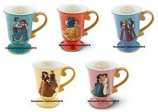 Disney Store Ariel Belle Aladdin Rapunzel Snow White Fairytale Mug Set SOLD OUT