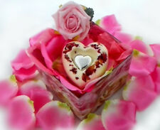 Geschenk f. Verliebte Rosen Badepraline 70g Geschenkebox  (999)