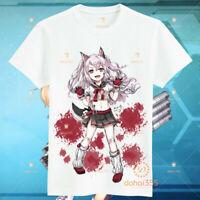 Short Sleeve White T-Shirt Anime Azur Lane Men's Cosplay Unisex Tee Tops #X21