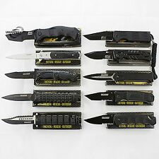 10 PCS WHOLESALE LOT TACTICAL SPRING ASSISTED KNIVES Blade Pocket Resale Black