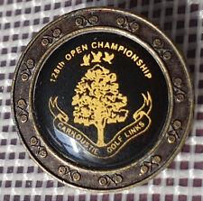 New listing Rare 1999 The Open Brass Peg Golf Marker Carnoustie (Paul Lawrie of Scotland)