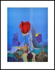 Boehm ROSE i poster stampa d'arte immagine con cornice in alluminio in nero 50x40cm