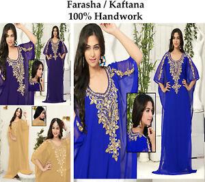 Dubai Style Women Kaftan Caftan Farasha Abaya Maxi Dress Kimono Beach Cover Up N