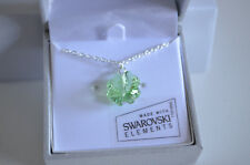 4 Leaf Lucky Green Shamrock Clover Necklace St Patricks w Swarovski Gift Box