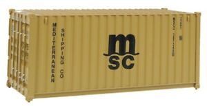 Walthers # 8057 20' Corrugated Container - Assembled MSC Brown  HO MIB
