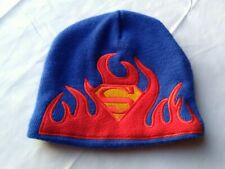 Preowned Flaming Superman Beanie Boy Hat