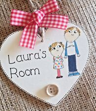 Personalised Name Plaque Door Bedroom Sign Girls Baby CHARLIE AND LOLA Room