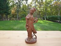Antique Chinese 19th c. Carved Sandalwood Guanyin Figurine