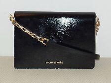 NWT Michael Kors Brinkley Large Shoulder Flap Bag Leather Black