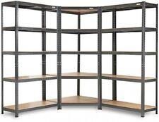 Industrial Heavy Duty 5 Tier Corner Racking System Garage Metal Shelving Unit