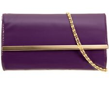 Ladies Patent Clutch Bag Envelope Evening Bag Handbag Party Wedding Bag K1866