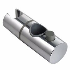 25mm ABS Chrome Shower Rail Head Slider Holder Adjustable Bracket Replacement