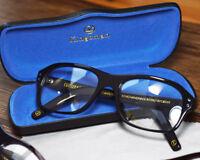 Kingsman2 The Golden Circle Vintage Black Acetate Eyeglasses Glasses Sunglasses