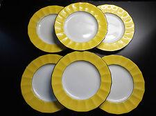 Superbe lot de 6 assiettes en porcelaine de Maestricht PARFAIT ETAT