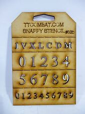 Wargames Imperial Marines Space Roman Numbers Snappy Stencils #32b