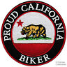 PROUD CALIFORNIA BIKER embroidered iron-on PATCH STATE FLAG BEAR REPUBLIC EMBLEM