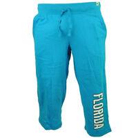 Florida Sunshine State FL Navy Womens Ladies Fleece Pants Elastic Waist Winter