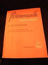 Partitura Flotenmusik Flauta Music G Ph Telemann 12 fantasías