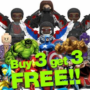 █ Buy 2 Get 1 Free █ - Deadpool Captain America MOC Kids Gift Toys