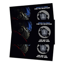 10 Transformers Birthday Party Favors Personalized Scratch Off Games
