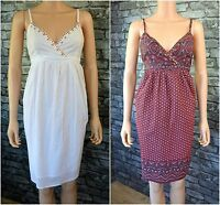 New Women's Ladies Elegant Sleeveless Black, White, Print V-Neck Cotton Dress