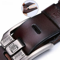 Popular Men's Genuine Leather Whole Cowhide Waistband Waist Strap Jeans Belt