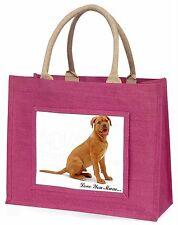 Dogue De Bordeaux 'Love You Mum' Large Pink Shopping Bag Christmas, AD-DB1lymBLP