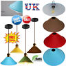 Vintage Metal Retro Bedroom Kitchen Pendant Shade Modern Lighting Lampshade UK