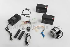 350 W 24 V electric motor kit w Batteries Control Twist Throttle Charger & Lock