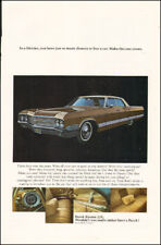 Vintage ad for Buick Electra 225 retro car interior view Photo gold.   092717