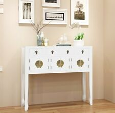 Large Console Table Chinese Oriental Sideboard White Vintage Furniture Drawer