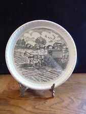 "Vintage Kettlesprings Kilns Alliance Ohio The Amish Plate 8"" Diameter"