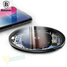 Wireless Qi Fast Charger Charging Pad For iPhone X 8 Plus Samsung Galaxy S9 S8 +