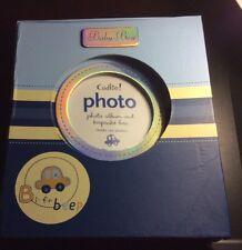 Baby Boy's CAR Blue B is for Beep Keepsake Box & Photo Album Set