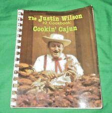 The Justin Wilson #2 Cookbook: Cookin' Cajun; vintage 1979 Recipes; Spiral bound